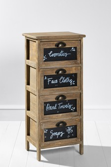Rustic 4 Drawer Unit