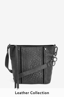 Leather Grainy Bucket Bag