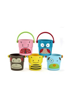 Skip Hop Zoo Stack & Pour Buckets Bath Toy