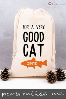 Personalised Good Cat Christmas Sack by Loveabode