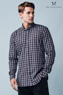 Crew Clothing Company Blue Millom Slim Shirt