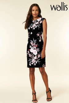 Wallis Petite Black Ruche Side Dress