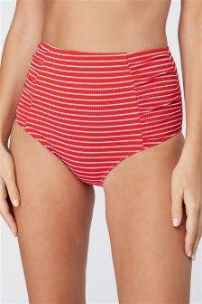 Stripe High Waist Bikini Briefs