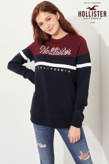 Hollister Burgundy California Logo Sweat
