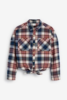 Check Tie Front Shirt (3-16yrs)