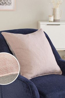 Pink Dalby Square Soft Textured Weave Cushion