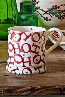 Emma Bridgewater Joy Trumpets Ho Ho Ho Half Pint Mug