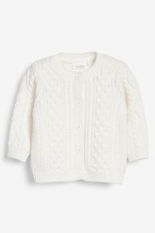 Organic Cotton Cable Cardigan (0mths-2yrs)