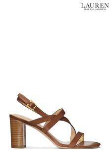 Lauren Ralph Lauren® Tan Block Heel Mackensie Sandals
