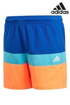 adidas Blue Colourblock Swim Shorts