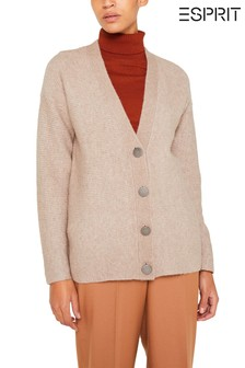 Esprit Brown Button Cardigan