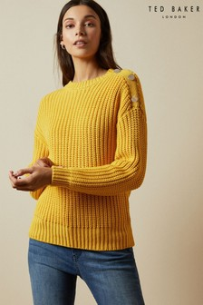 Ted Baker Whtnee Button Sleeve Jumper