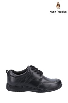 Hush Puppies Black Harvey Senior School Shoes