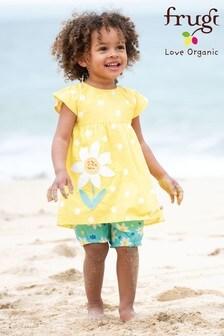 Frugi Yellow Organic Tunic Set With Daffodil Print