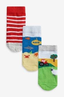 3 Pack Farm Socks (Younger)