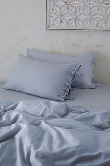 Set of 2 Washed Organic Cotton Pillowcases