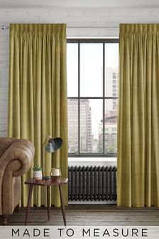 Otto Lime Green Made To Measure Curtains