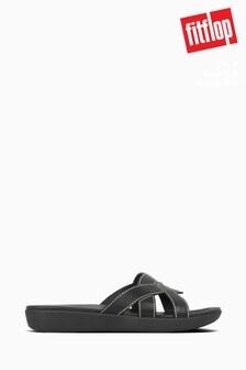 FitFlop™ Black Elyna Weave Sliders
