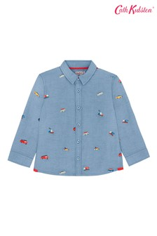 Cath Kidston® White Embroidered Spaced Garage Station Shirt