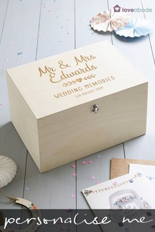 Personalised Mr And Mrs Memory Box By Loveabode