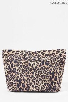 Accessorize Leopard Zip-Top Bag Organiser