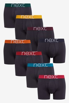 Colour Waistband A-Fronts Eight Pack