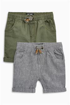 Pack de dos pantalones cortos (3 meses-6 años)
