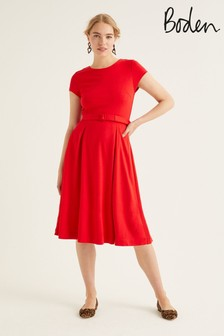 Boden Red Aida Ponte Dress