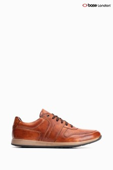 Base London® Tan Dakota Burnished Lace-Up Trainers