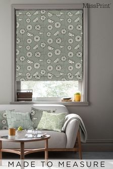 Dandelion Mobile French Grey Roman Made To Measure Blind by MissPrint