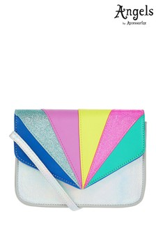Angels by Accessorize Multi Retro Rainbow Cross Body Bag