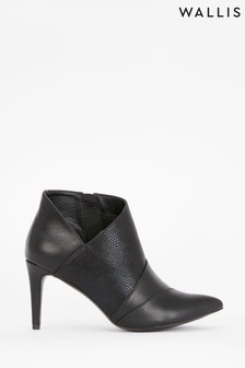 Wallis Alibi Black 3 Panel Shoe Boots