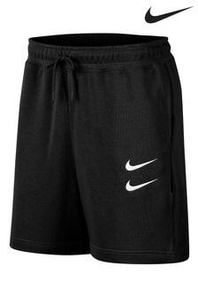 Nike Black Double Swoosh Fleece Shorts