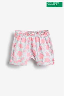 United Colors of Benetton Grey Floral Shorts