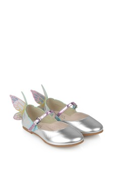 Girls Silver & Pastel Leather Chiara Shoes