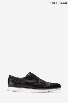 Cole Haan Black Original Grand Wingtip Oxford Shoes