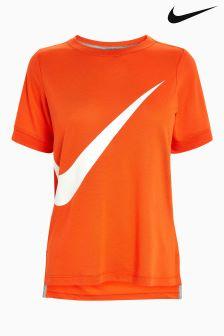 Nike Orange Logo T-Shirt