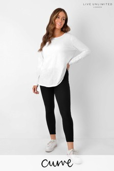 Live Unlimited Curve Black Cotton Cropped Leggings