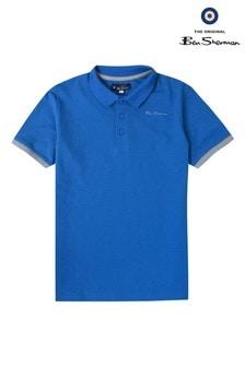 Ben Sherman Poloshirt mit bedrucktem Kragen