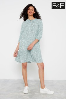 F&F Mint Ditsy Tier Dress