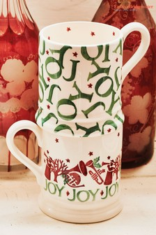 Set of 2 Emma Bridgewater Joy Trumpets Half Pint Mugs