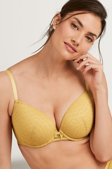 Phoebe DD+ Lightly Padded Animal Lace Balcony Bra
