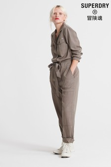 Superdry Khaki Military Jumpsuit
