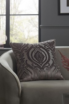 Silver Collection Luxe Damask Cushion