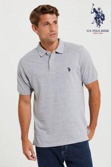 U.S. Polo Assn. Grey Pique Poloshirt