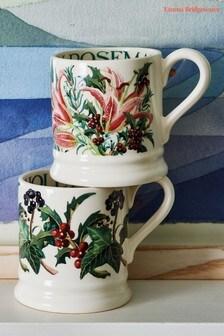 Set of 2 Emma Bridgewater Winter Flowers Half Pint Boxed Mugs