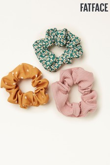 FatFace Yellow Scrunchies Three Pack