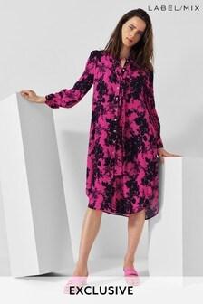 Mix/Caroline Issa Floral Shirt Dress