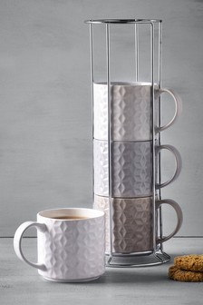 Set of 4 Kendall Stacking Mugs