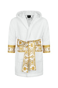 Kids White Cotton Robe